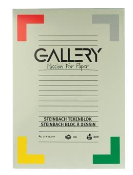 Gallery Steinbach tekenblok, gekorreld, ft 21 x 29,7 cm (A4), 200 g/m², blok van 20 vel