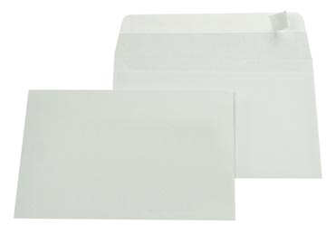 Gallery enveloppen ft 114 x 162 mm, stripsluiting, binnenzijde grijs, doos van 500 stuks