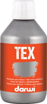 Darwi textielverf Tex, 250 ml, zilver