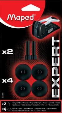 Maped perforator Expert HD 150, blister met 4 vervangdisks en 2 ponsen