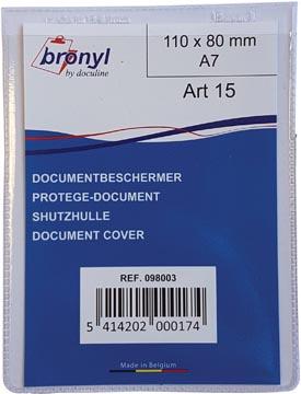 Bronyl U-mapje uit transparante PVC van 180 micron, ft A7