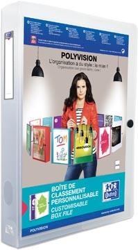 OXFORD Polyvision personaliseerbare elastobox, formaat A4, uit PP, rug van 4 cm, transparant