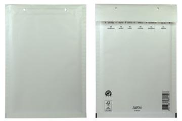 Airpro luchtkussenenveloppen, ft 180 x 265 mm met stripsluiting, wit, doos van 100 stuks