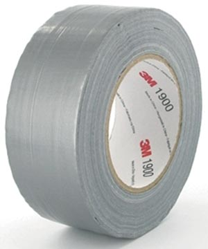 3M duct tape 1900, ft 50 mm x 50 m, zilver