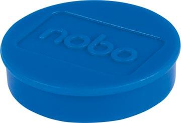 Nobo magneten diameter van 30 mm, blauw, blister van 4 stuks
