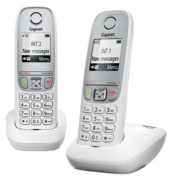Gigaset A415 DECT draadloze telefoon, met extra handset, wit