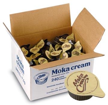 Geconcentreerde melk 7,5 ml, Moka cream, doos van 240 stuks