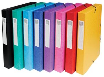 Exacompta elastobox Exabox 8 geassorteerde kleuren: geel, rood, roze, paars, blauw, turquoise, groen e...