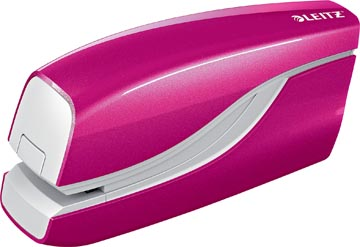 Leitz WOW elektrische nietmachine, 10 blad, voor nietjes E1, roze