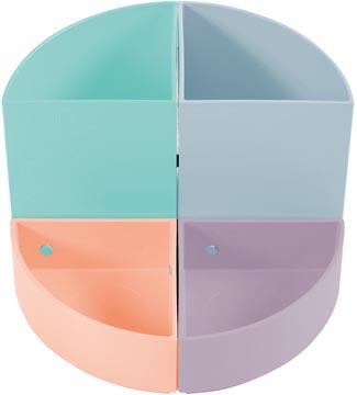 Exacompta modulair pennenbakje The Quarter, in pastel kleuren