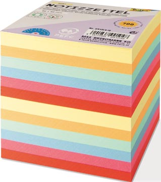 Folia Notes, ft 90 x 90 mm, vulling voor memokubus, geassorteerde kleuren