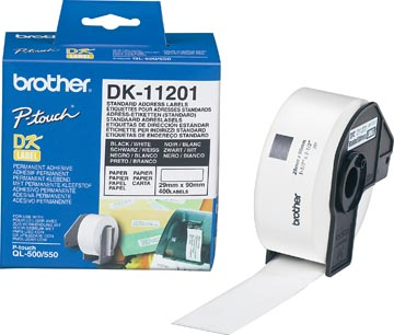 Brother etiketten voor QL, ft 29 x 90 mm, pak van 400 etiketten