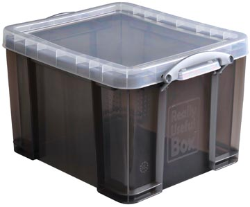Really Useful Box opbergdoos 35 liter, transparant gerookt