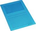 Pergamy L-map met venster, pak van 100 stuks, blauw